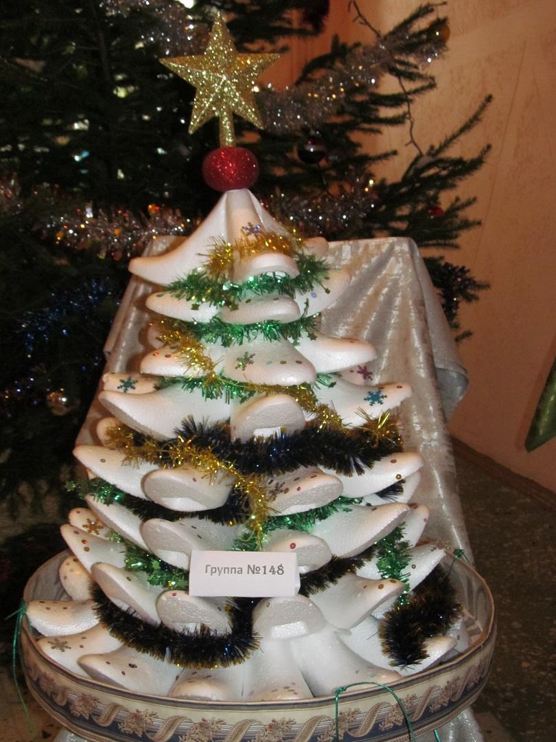 Новогодняя елочка своими руками на конкурс фото 152